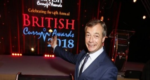 Nigel Farage at the Curry Awards (Picture: Backgrid)