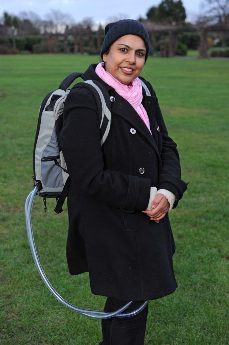 Picture: Craig Hibbert  29-12-17 Selwa Hussain with her portable heart.